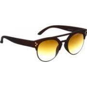 Hrinkar Clubmaster Sunglasses(Brown)