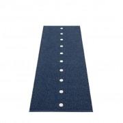 pappelina Peg Outdoor-Teppich - dunkelblau / vanille 70 x 200cm
