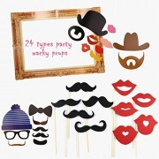 OULII 24pcs Party Supplies Photo Booth Large Picture Frame for Wedding Birthday Parties