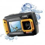 Digitalni fotoaparat Easypix W-1400 14 mil. piksela crna/narančasta zaštićen od prašine, podvodni fotoaparat, prednji prikaz