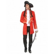 Disfarce de Pirata Vermelho para Homem