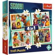 Puzzle Trefl 4in1 Scooby Doo si prietenii