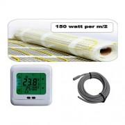 Vloerverwarming elektrisch DC 150 1.5m2 met Klokthermostaat