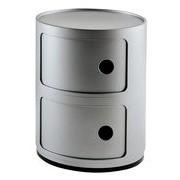Kartell Rangement Componibili / 2 tiroirs - H 40 cm - Kartell argent en matière plastique