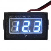 Vodotesný voltmeter modrý (3.5-30V)