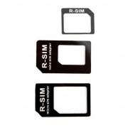 Xqisit Adaptateur Sim 3 en 1 Nano Micro - Noir