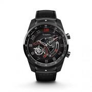 Ticwatch Pro Reloj inteligente con Bluetooth, pantalla en capas, Google Assistant, compatible con iPhone y Android, Negro