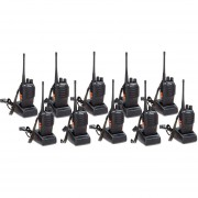 Pack 10 Walkie Talkie UHF Baofeng BF-888S Radio Portatil