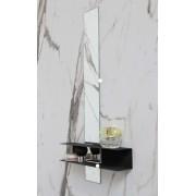 Ink Linea planchet mat zwart - met spiegel 10x100cm