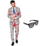 Zombie heren kostuum / pak - maat 48 (M) met gratis zonnebril