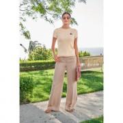 TWINSET broek met linnen, 40 - ecru