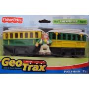 """GEO TRAX Rail & Road PUSH VEHICLE The """"FRIENDLIEST TEAM"""" w Chatty, Chirpy & Sally (2007 Fisher-Price"""