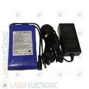 Batteria a Litio 24V DC 2000mA 2.0AH max Discarge 6A 56Wh + Charger 29.4V 1.0Ah