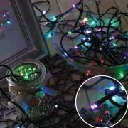 Karácsonyi led fényfüzér, rizsszem füzér IP44, kültérre is! 500 db RGB /ledenként bármilyen szín!/ leddel, gyorsan, folyamatosan színt váltva világít. Life Light Led 2 év garancia!