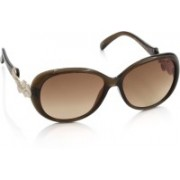 Vintage Over-sized Sunglasses(Brown)