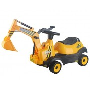 Vroom Rider Battery Operated 6V 4-Wheel Excavator Ride-On, Yellow