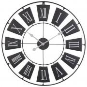 Zegar ścienny metalowy duży RETRO LOFT 70cm czarny