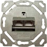 TN-CAT6A EK/0 vk - Anschlussdose Kat6A design 2xRJ45,EK/0-D,vk TN-CAT6A EK/0 vk
