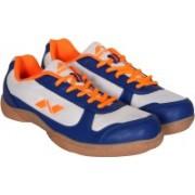 Nivia Hoover Badminton Shoes(White, Blue)