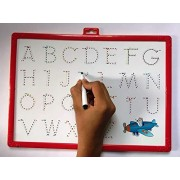 KGN Write and Wipe Writing Board 2 in 1 Slate Kids Educational White Board for Playing, Drawing & Learning Learn Alphabet-Multicolour