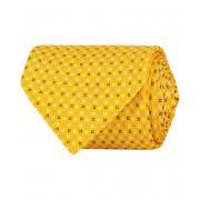 E. Marinella 7-Fold Printed Micro Pattern Silk Tie Bright Yellow 8 cm