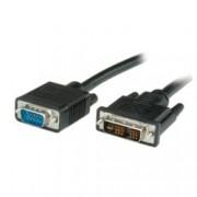 Кабел Roline DVI(м) към VGA(м), 3m, черен