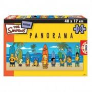 Educa Simpsons panoráma puzzle, 100 darabos
