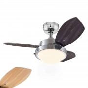 Wenge ceiling fan with halogen lamp