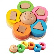 Holzsammlung Creative Wooden Colour and Shape Geometric Sorting Board - Stack & Sort Puzzle Toys for Age 3+