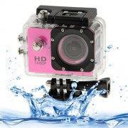 SJ4000 Full HD 1080P 1.5 inch LCD Sports Camcorder - Pink