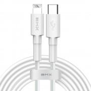 Cablu de date/incarcare Baseus, BMX Mini, Lightning/USB Type-C, 1.2M 18W, Alb