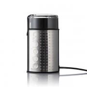 Bodum BISTRO Moulin à café électrique à lamelles, 150 W, finition métallique Brillant