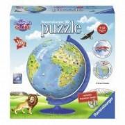 Puzzle 3D pentru copii Globul lumii 180 piese