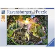 Puzzle Familia Lupilor, 500 Piese Ravensburger
