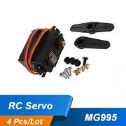 Generic 4Pcs/Lot Servo Motor MG995 55g RC Servos Digital Metal Gear RC Car Robot Servo for HPI XL Helicopter Car Boat