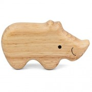Cerasus Eco-Friendly Handmade Wooden Shaker / Rattle / Toys for Toddlers / Kids / Musical Toy (Rhino)