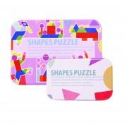 Jardín de infancia rompecabezas intelectual colorido con la forma cuadrada de animales juguetes infantiles de madera 100 gráficos para Niños