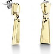 Tommy Hilfiger Cercei din oțel inoxidabil placați cu aur în model de fermoar TH2700754