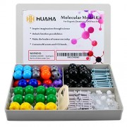 Huaha Molecular Model Kit Student and Teacher Kit Set Organic Inorganic Chemistry 240 Piece Color Coded Atoms, Bonds, Orbitals, Links - Science Toys (86 atoms 153 bonds 1 link remover tool)