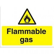 Unbranded Warning Sign Flammable Gas Fluted Board 45 x 60 cm