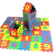 Livoty 36Pcs Baby Child Number Alphabet Puzzle Foam Maths Educational Toy Gift (Multicolor)