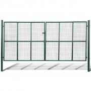 vidaXL Градинска мрежеста оградна врата, 415 x 250 см / 400 x 200 см