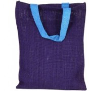 PRAHAN INTERNATIONAL Carry Bag Natural Juit Hand Carry Bag with two Handle Strap PS2007B(Blue)
