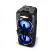 Bazzter Sistema Áudio Party 2 x 50W RMS Bateria BT USB MP3 AUX UKW LED Microfone