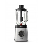 Blender de masa Philips Avance Collection HR3652/00, 1400 W, 2L, Afisaj Led, Negru/Inox