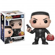 Funko Pop Punisher Holding Daredevil Mask Limited Chase Sticker