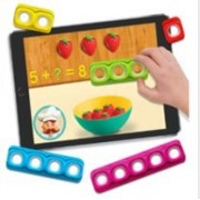 Tiggly Maths / Learn with Fun,Learning System on Tablets / Tiggly Toys have silicone touch points so your tablet reacts to them just like your fingertips / Tap and the screen reacts