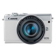 Canon EOS M100 Mirrorless Camera w/ 15-45mm Lens & 55-200mm Lens Wi-Fi, Bluetooth, and NFC enabled (White)
