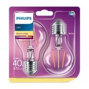 SET 2x Bec LED Philips E27/4,3W/230V