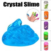 Soft Slime Dirance Cans Flash powder Clear Slime Scented Stress Relief Toy Sludge Toys Prime Cheap (Blue)